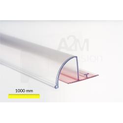 Rail adaptateur adhésif avec façade avant 1000 mm