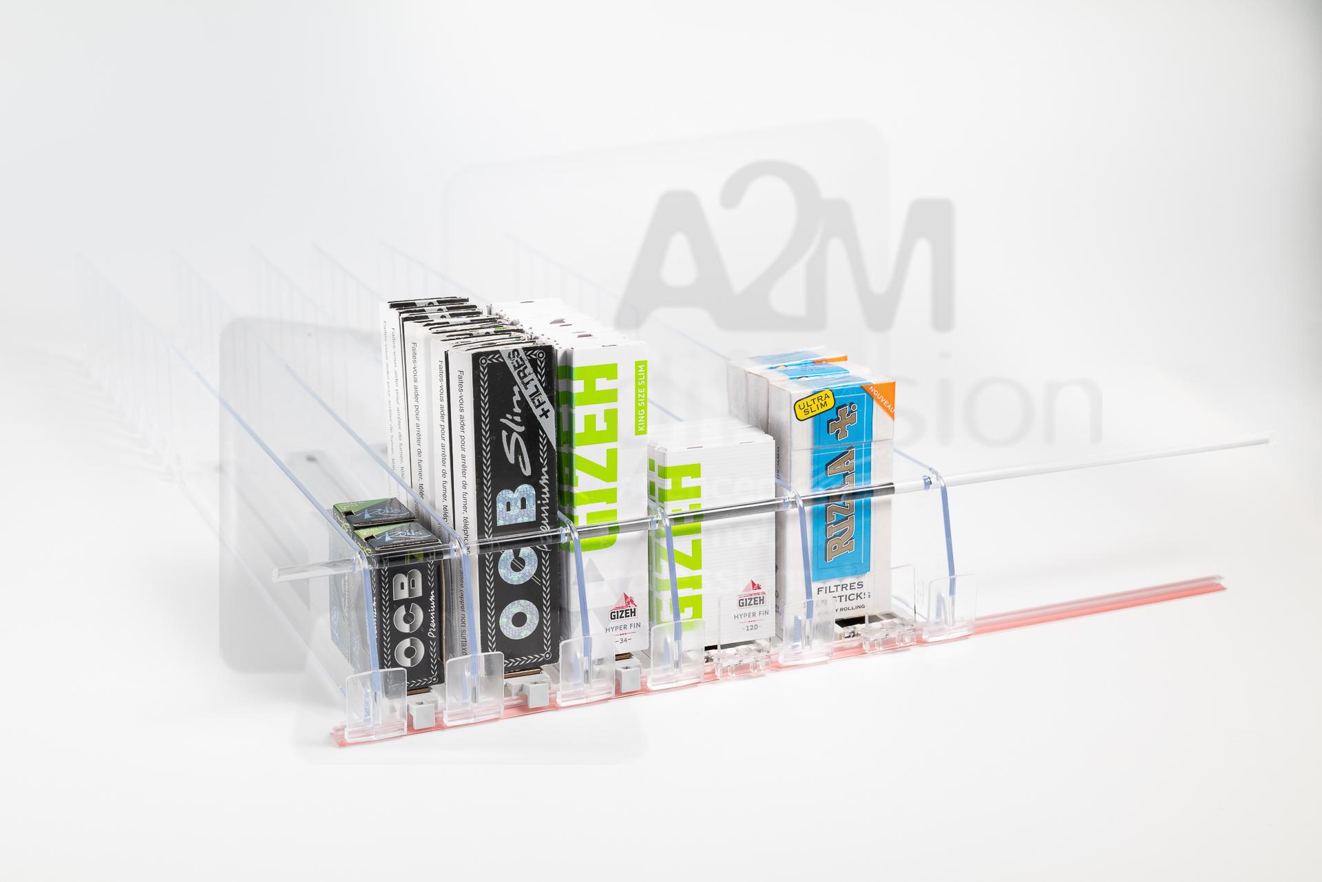 Système de poussoir pour e-liquides et cigarettes électroniques