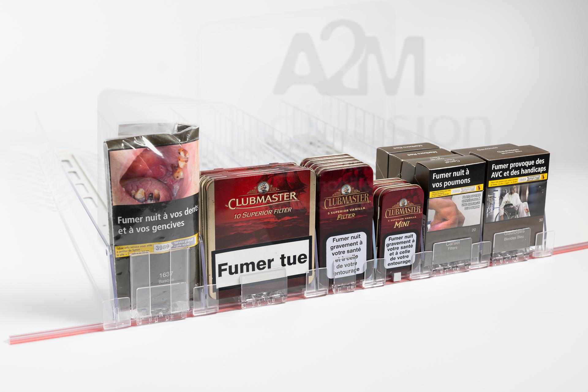 Poussoir pour le tabac debout et les cigares